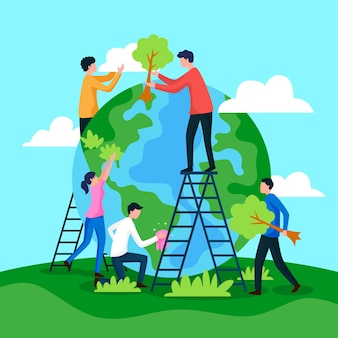 Salve as pessoas do planeta restaurando a terra