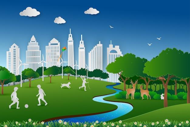Salve o ambiente e o conceito de energia