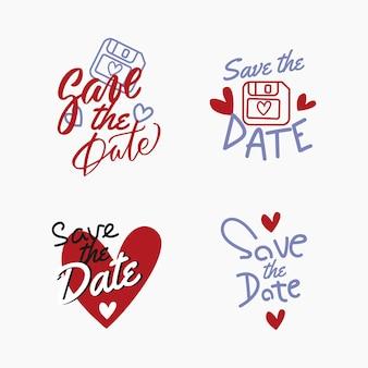 Salve o conceito de letras de data