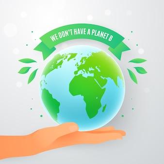 Salve o conceito de planeta com a mão segurando o planeta