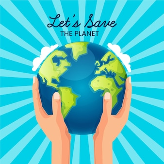 Salve o conceito do planeta