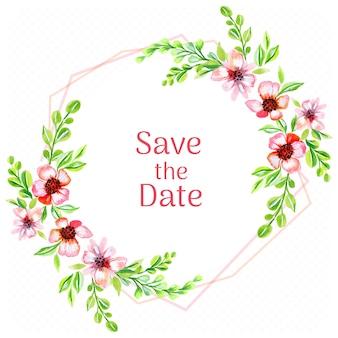 Salve o fundo de aquarela de flores rosa sate