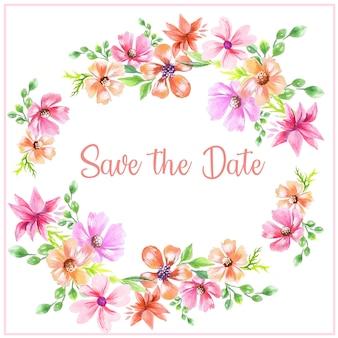 Salve o fundo floral de data