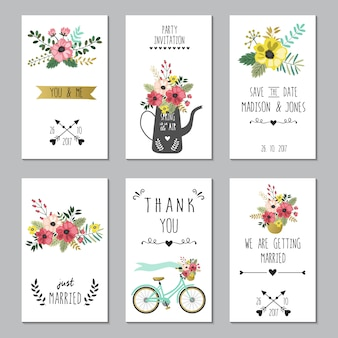 Salve o modelo de cartões de casamento data.