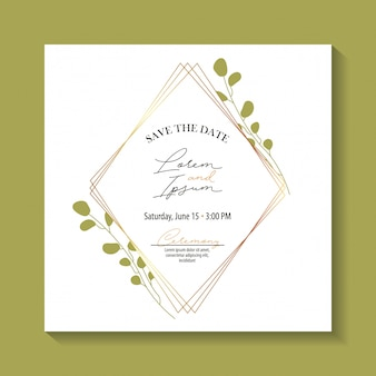Salve o rótulo de data com folhagem de folhas