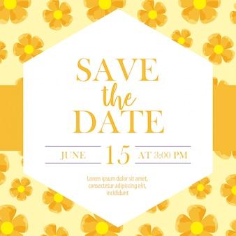 Salve o rótulo de data com mais de flores