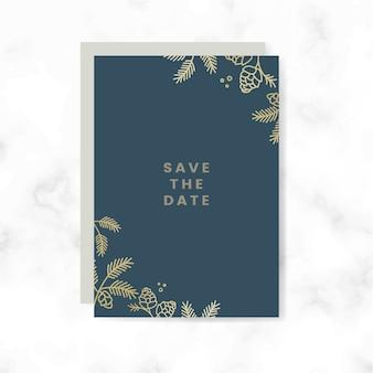 Salve o vetor de cartão de data