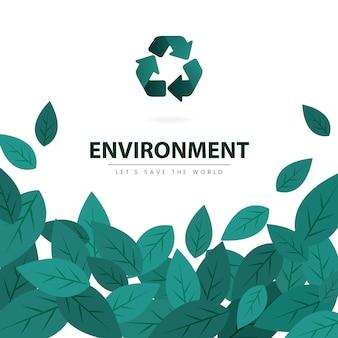 Salve o vetor de conservação ambiental do mundo