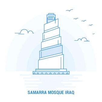 Samarra mesquita iraque azul marco