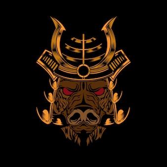 Samurai cabeça de porco
