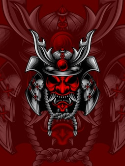 Samurai cabeça vermelha
