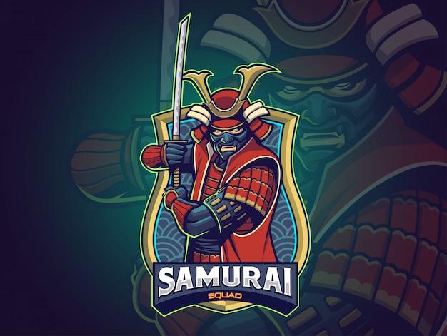 Samurai esports logo para sua equipe