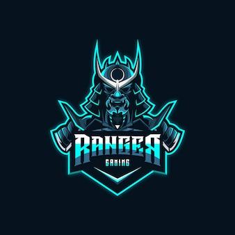 Samurai logo design premium