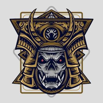 Samurai vector ilustração alto detalhe simetria projeto obra de arte