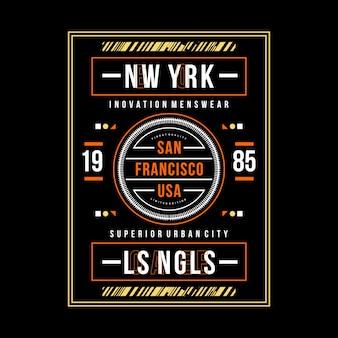 San francisco tipografia gráfico vestuário urbano