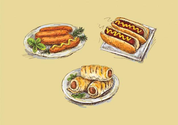 Sanduíche de salsicha