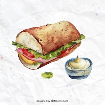 Sanduíche watercolor