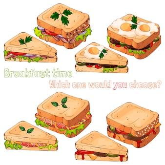 Sanduíches.