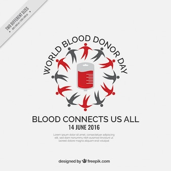 Sangue mundial de doadores dia fundo cinza