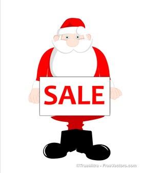 Santa bonito segurando tag venda