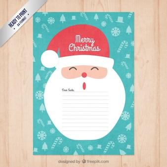 Santa engraçada carta noel