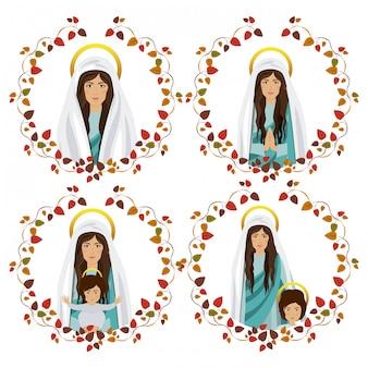 Santa maria e o menino jesus