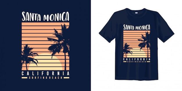 Santa monica, califórnia - praia de surf.
