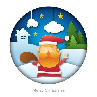 Santa papercut