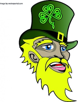 Santo irlandês patricks rosto