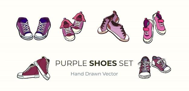 Sapatilhas sapatos pares isolados