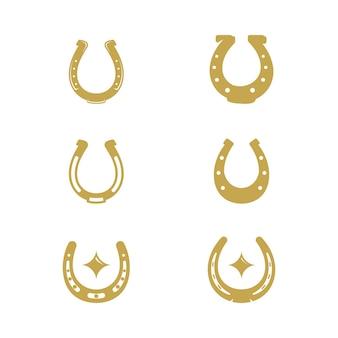 Sapato de cavalo ilustração em vetor ícone design modelo