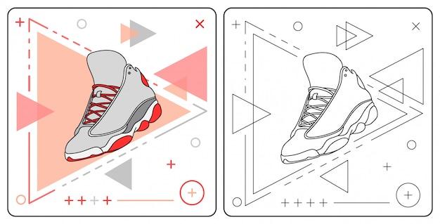 Sapato de cesta fácil editável