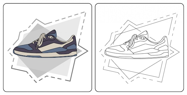 Sapato diário fácil editável