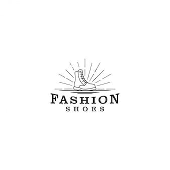 Sapatos com logotipo de inicialização, um modelo clássico simples para uma loja de sapatos