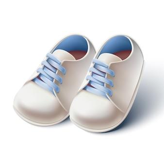 Sapatos de bebê menino de vetor.