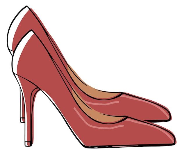 Sapatos de couro da moda com salto alto