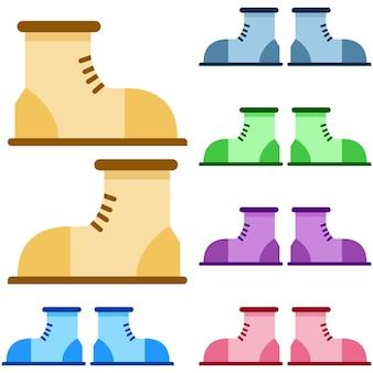 Sapatos de esportes coloridos ou elemento de jogo de elemento de escalada plana