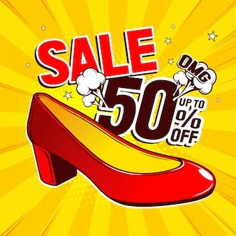 Sapatos de pop art vermelho
