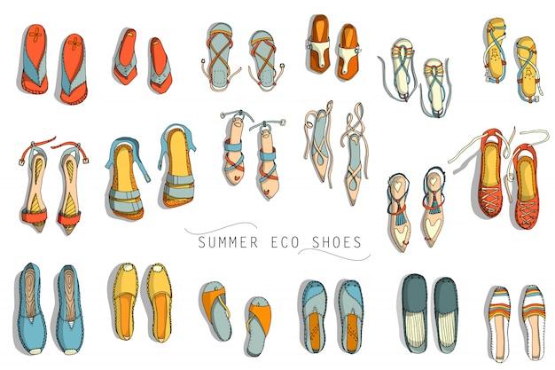 Sapatos de verão das mulheres