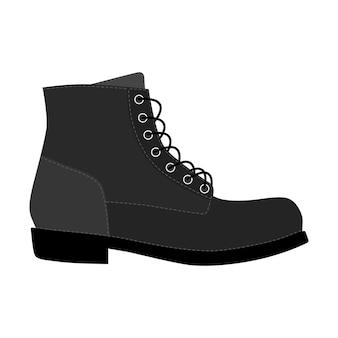 Sapatos masculinos brogue guarnição plataforma brutus botas isoladas. ícones de sapatos com cordões de temporada homem masculino. ilustração vetorial de calçado
