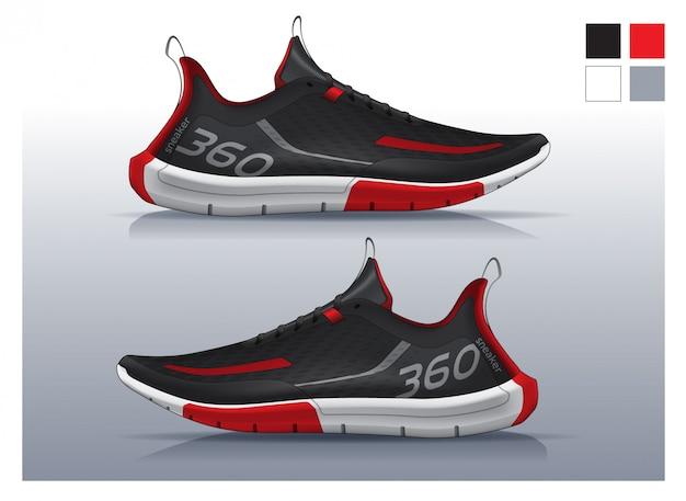 Sapatos para corrida, design de tênis