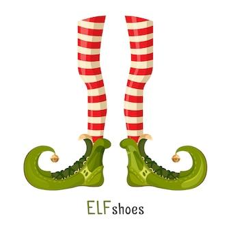 Sapatos verdes de elfo