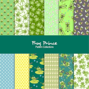 Sapo príncipe padrões set