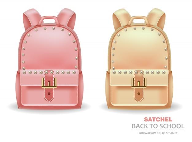 Satchel bags com pérolas
