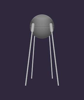 Satélite orbital no ícone do universo