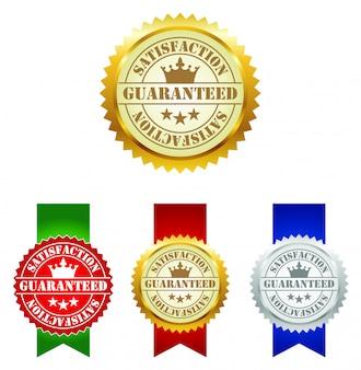 Satisfação garantida etiquetas