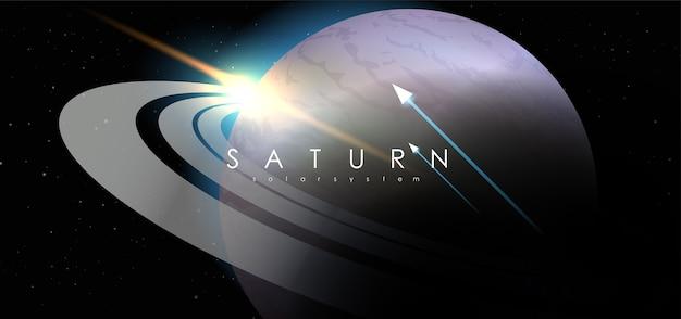 Saturno no fundo do espaço