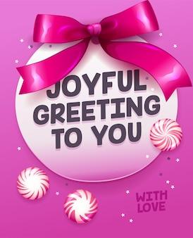 Saudação alegre para você cartão de celebração. citação inspiradora fundo de feliz ano novo