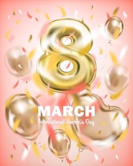 Saudação banner 8 de março