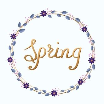 Saudação cartão de primavera